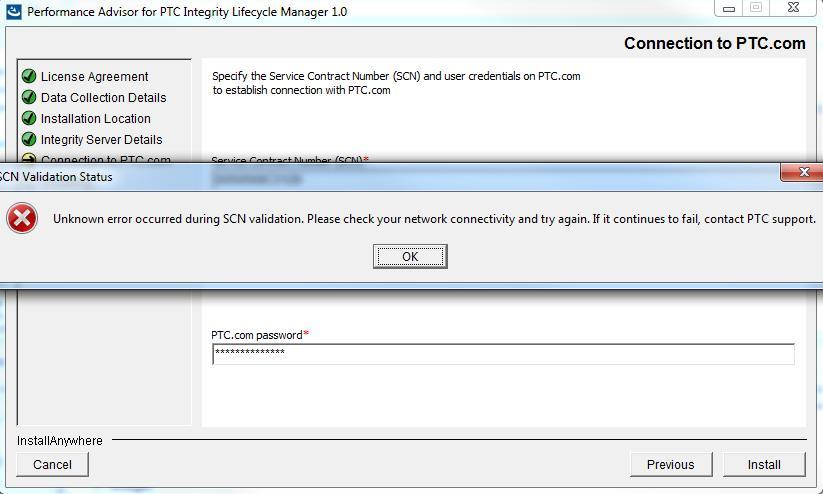 Solved: Unknown error while installing PTC Advisor  - PTC