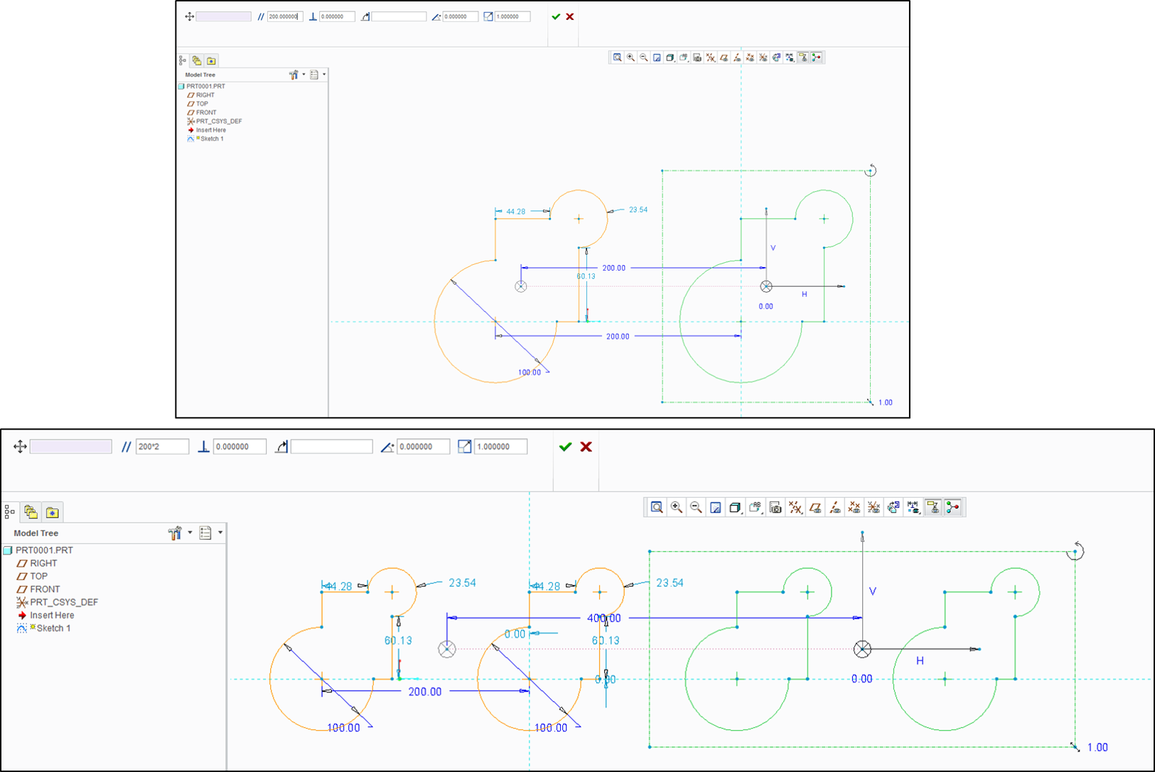 Why In Creo Sketch There Are No Linear And Circula Ptc Community
