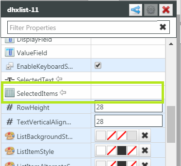 Solved: How to use List Widget with multi-select options - PTC Community